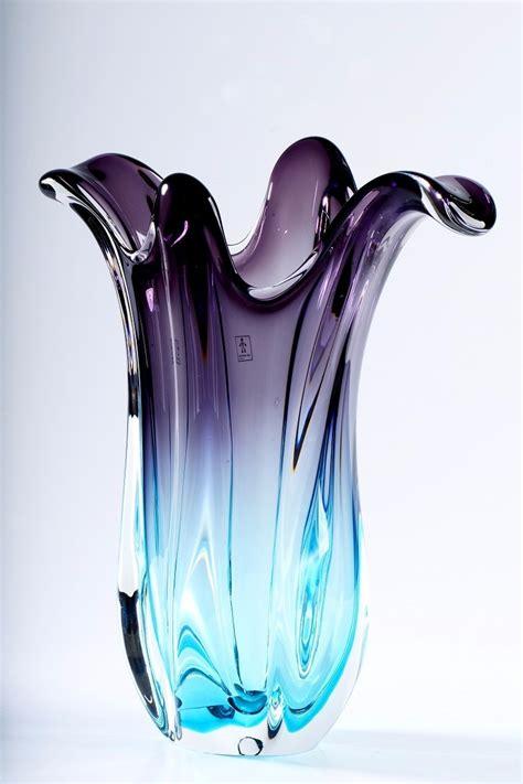 vaso murano cristal murano s 227 o marcos vaso azul 2520 zl r 990 00
