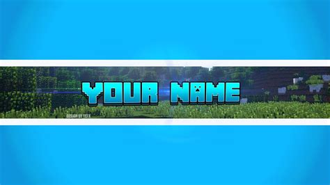 minecraft youtube template banner blank pictures to pin on