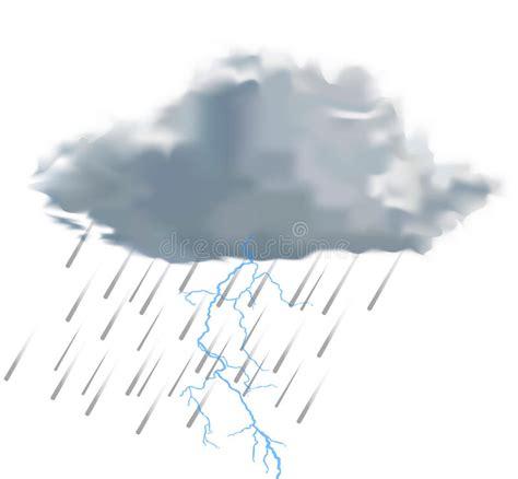 clipart pioggia nuvola di pioggia con le gocce di pioggia ed il fulmine