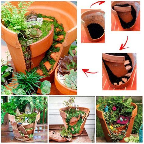 composizione di piante grasse in grande vaso riciclare i vasi rotti e fare una composizione di piante