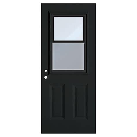 door with hung window hung window exterior steel door black 34 quot x 80