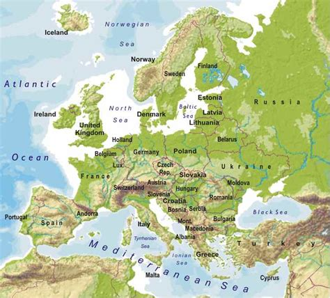 world map image europe what are all the peninsulas in western europe