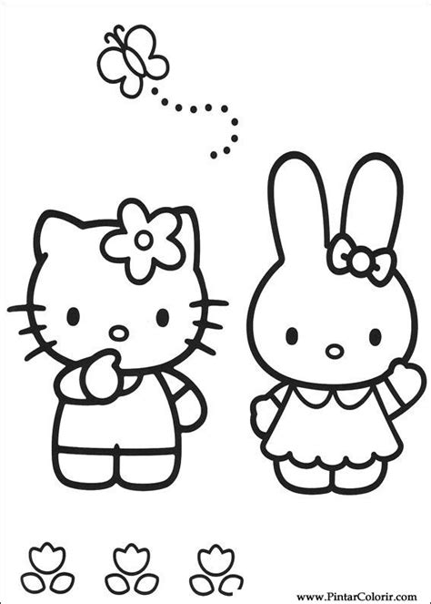 dibujos para pintar hello kitty drawings to paint colour hello kitty print design 006