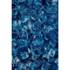 Fireplace Glass Rocks Home Depot by Firecrystals 30 Lbs Arctic Blue Glass Value Pak