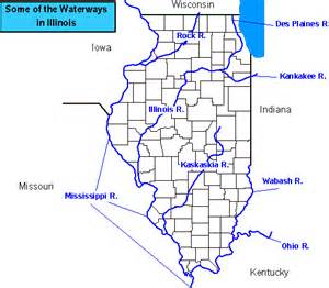 Map Of Illinois Rivers by Some Rivers In Illinois