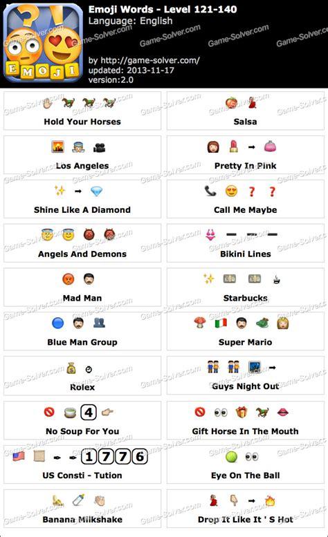 emoji word emoji words level 121 140 game solver