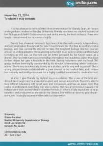 letters of recommendation for residency