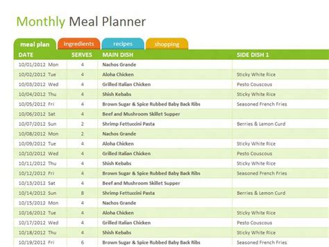 meal planning template excel best 25 monthly meal planning ideas on weekly