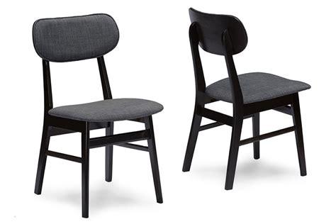 brown wood dining room chairs baxton studio debbie mid century brown wood grey faux