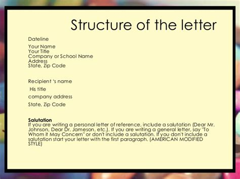 Reference Letter Salutation letter of recommendation