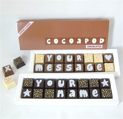 personalised chocolates in small box by chocolate by cocoapod chocolate notonthehighstreet com