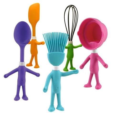 cool utensils cute head chefs kid s posable silicone kitchen utensils