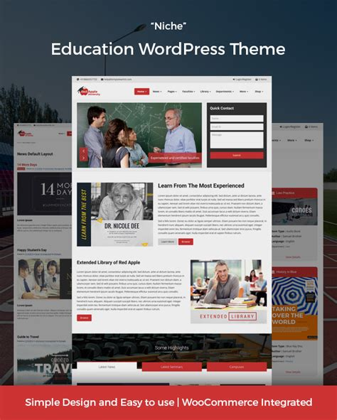 theme blogger education redapple school college university institution