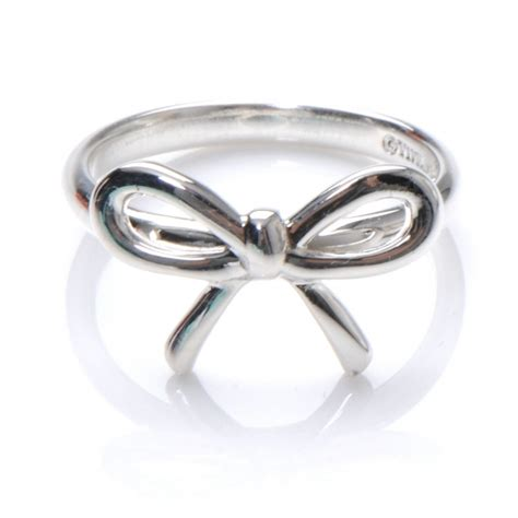 co sterling silver bow ring 4 48045