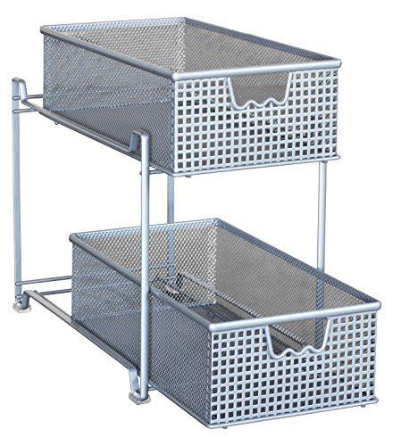 Basket Drawer Organizer storage basket organizer sliding drawer kitchen cabinet shelf holder rack