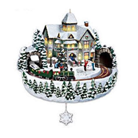 thomas kinkade holiday celebrations animated christmas