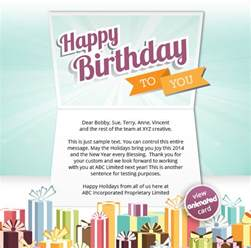 company birthday cards corporate birthday ecards employees clients happy