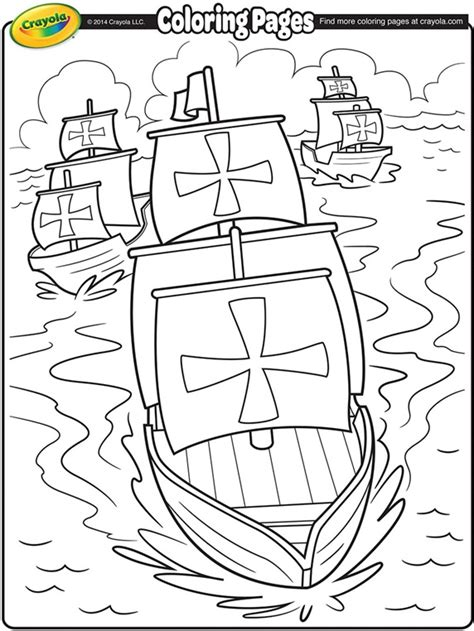 free printable coloring pages of the nina pinta santa maria nina pinta and santa maria coloring page crayola com