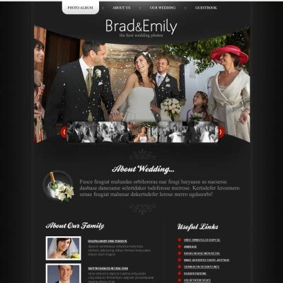 Wedding Album Themes by Wedding Album Psd Templates Templatemonster