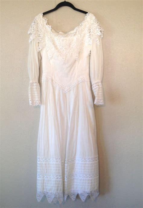 vintage wedding dress long sleeve dress mcclintock