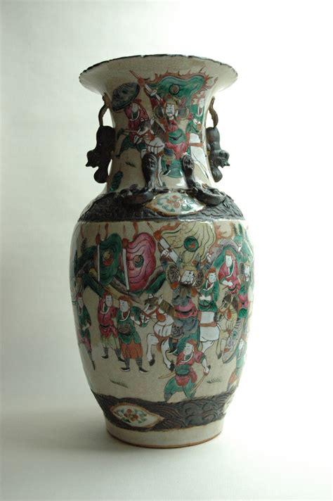 Large Antique Vases by Large Antique Nankin Pottery Vase With Warrior