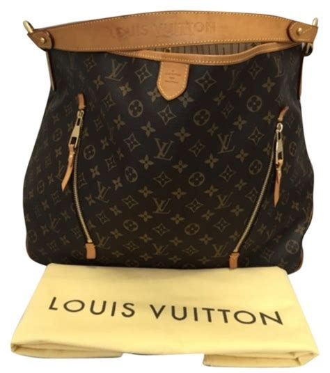 louis vuitton delightful gm monogram  dustbag hobo bag