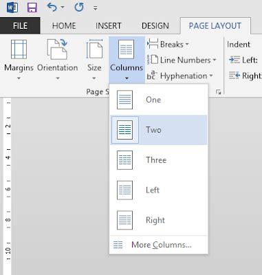 cara layout koran cara mudah menggunakan kolom koran di ms office word 2013