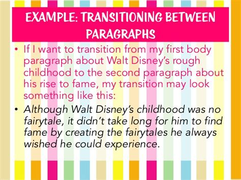 Transition Words For Essays Between Paragraphs by Transitions