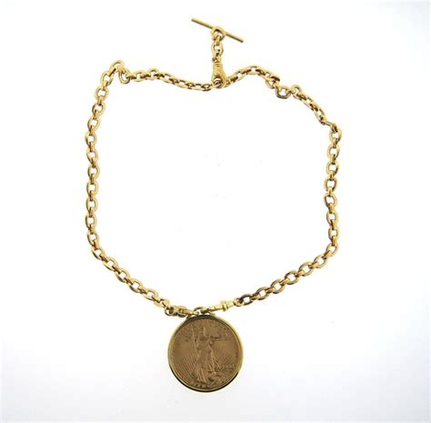 cartier twenty dollar gold coin pendant necklace at 1stdibs