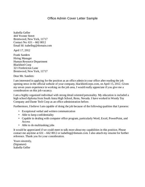office manager cover letter exles office manager cover letter sle sle cover letters