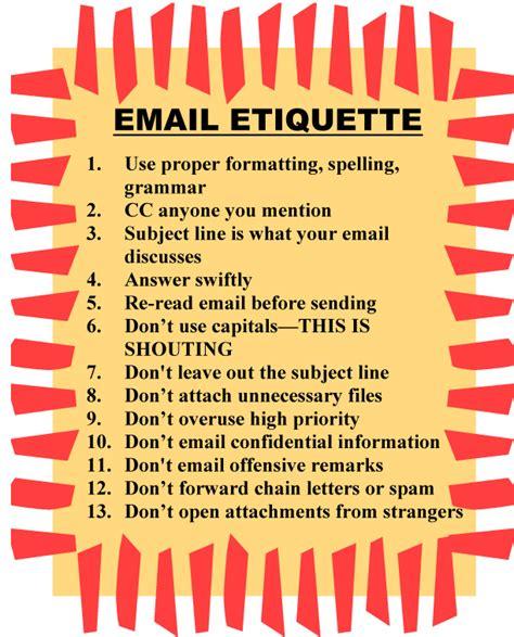email etiquette email etiquette poster ask a tech teacher