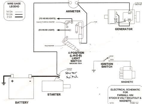 farmall m 12 volt wiring diagram 12 volt battery wiring