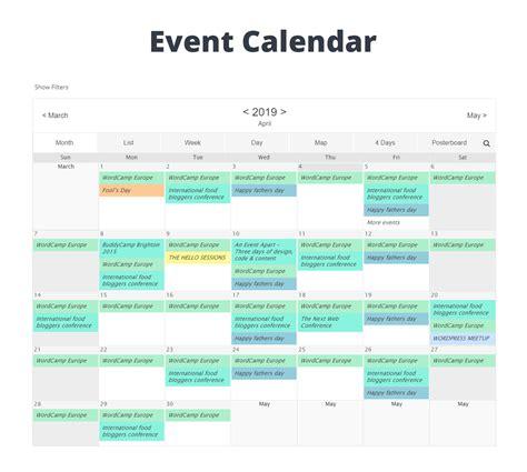 event calendar wd responsive event calendar plugin