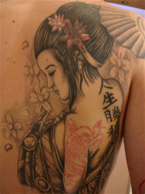 tattoo geisha e carpa toop tattoo la geisha y la carpa alicante tatuaje japones