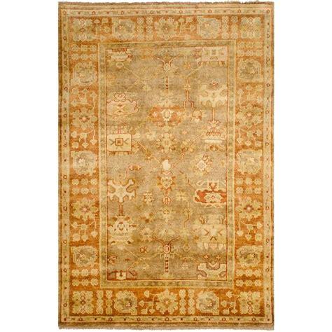 Safavieh Oushak - safavieh oushak beige rust 4 ft x 6 ft area rug osh118a