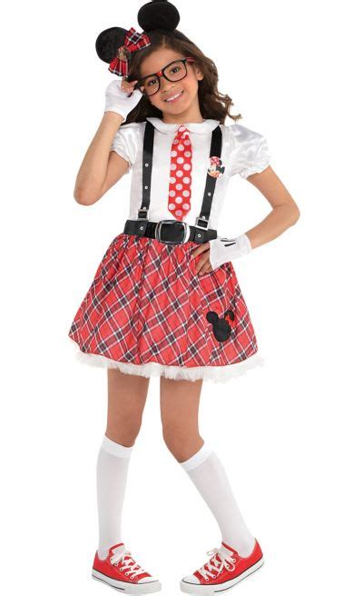 girls minnie mouse nerd costume party city