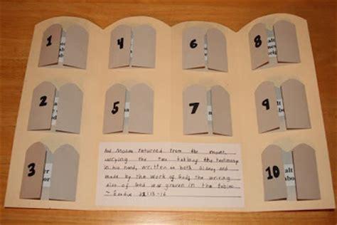 ten commandments craft for shower of roses ten commandments book