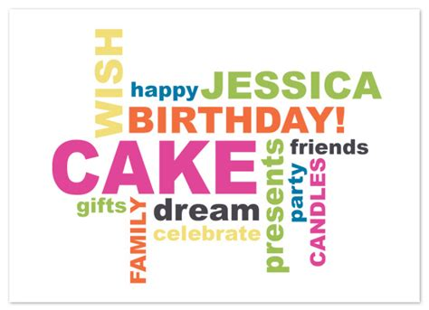 design happy birthday word birthday cards happy birthday word cloud at minted com