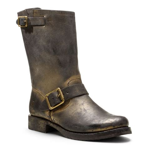 coach frye for coach metallic boot in brown
