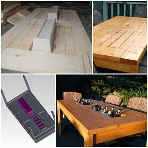 How To Make A Patio Table With Built In Coolers Step By Build A Patio Table
