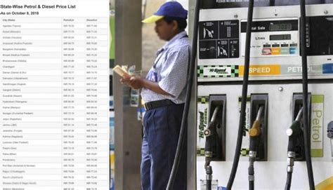 latest state wise petrol  diesel price list  india