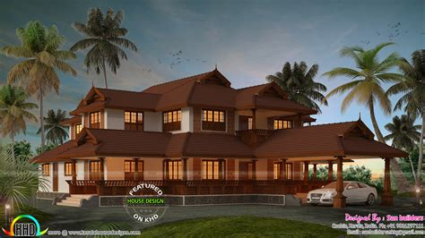 kerala traditional home plans with photos