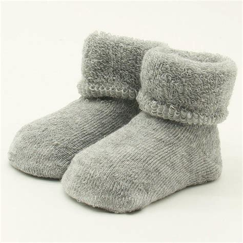 infant baby socks newborn infant baby warm cotton socks anti slip socks