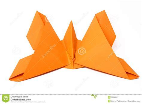 doing origami m 227 o borboleta feita do origami fotografia de stock