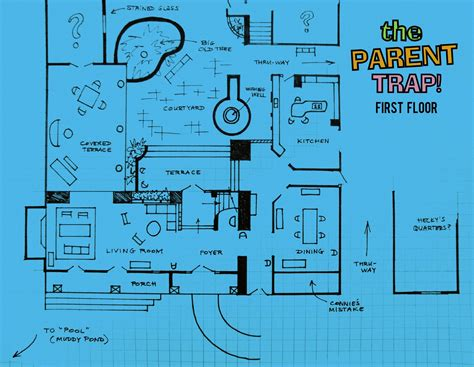 clue house floor plan clue house floor plan the parent trap 1961 house www
