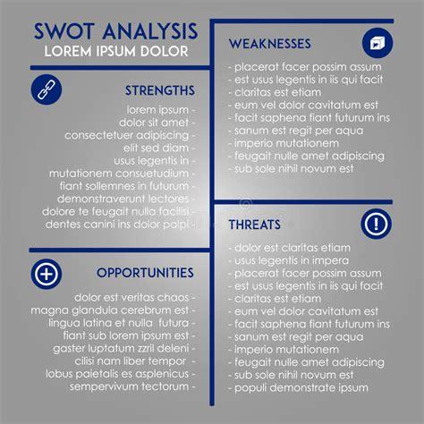 analysis template swot  marketing stock vector image
