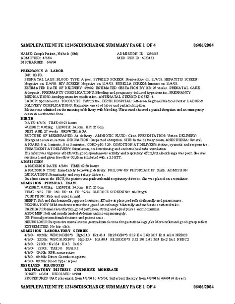 sle discharge summary report sle discharge summary