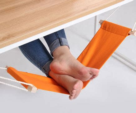 Fuut Desk Hammock by The Ultimate Office Accessory The Fuut A Foot Hammock