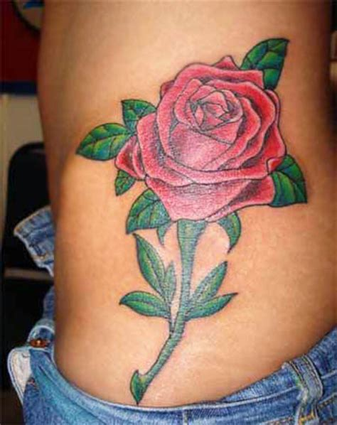 rose belly tattoos charming flowers designs for day