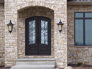 lite arch top double door mediterranean front